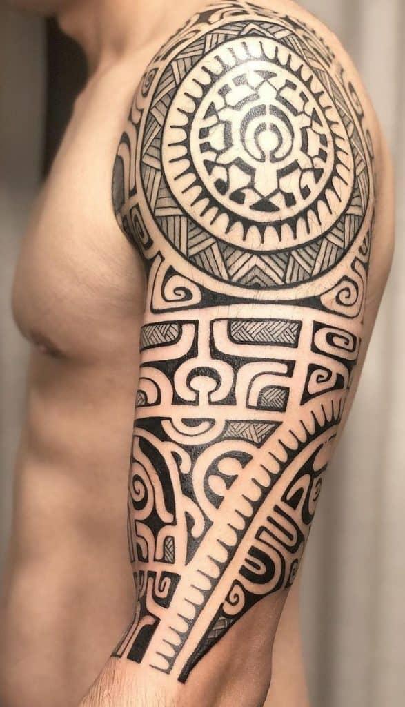 Tribal Tattoo Half Sleeve