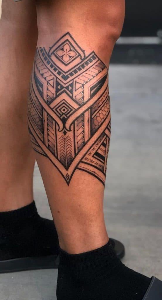 Tribal Tattoo on Calf