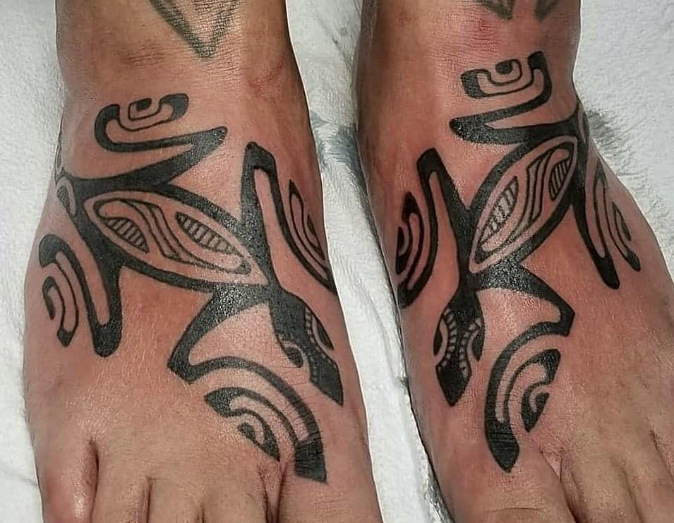Tribal Tattoo on Foot