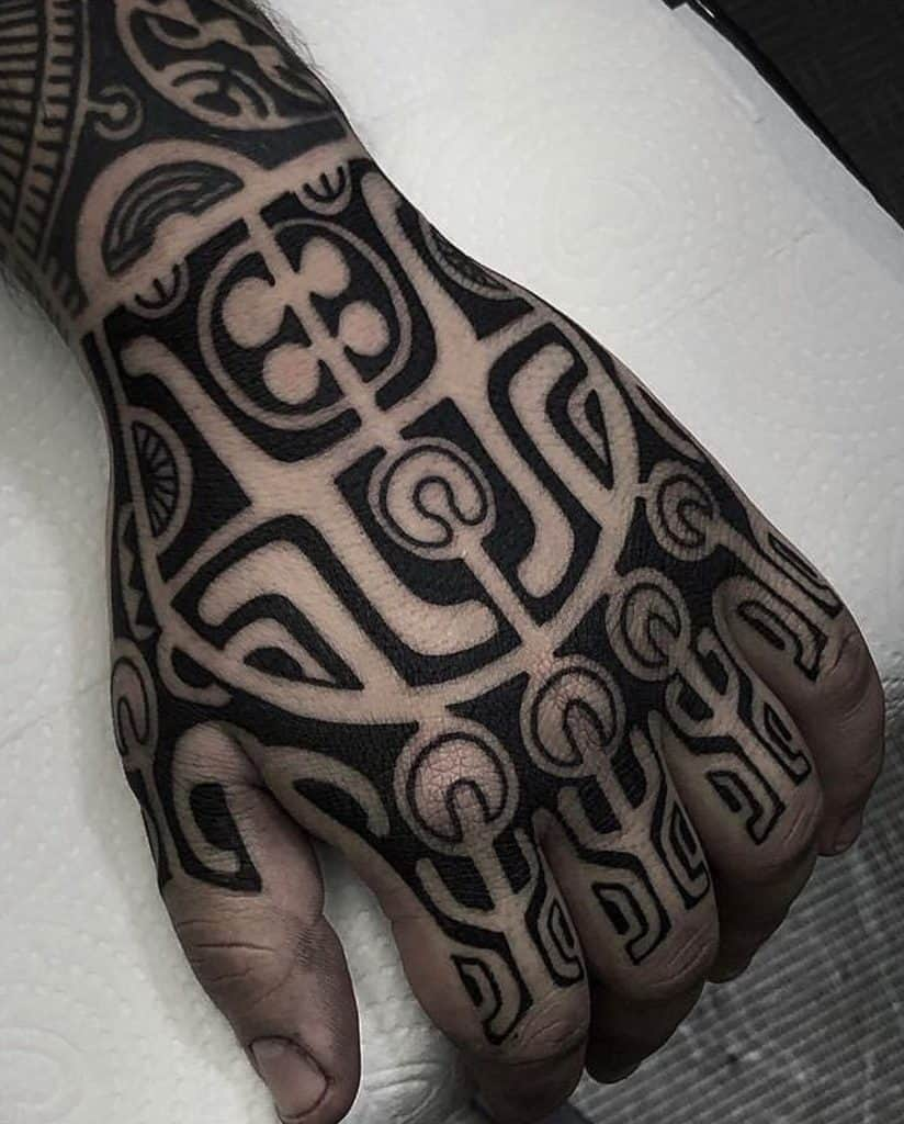 Tribal Tattoo on Hand