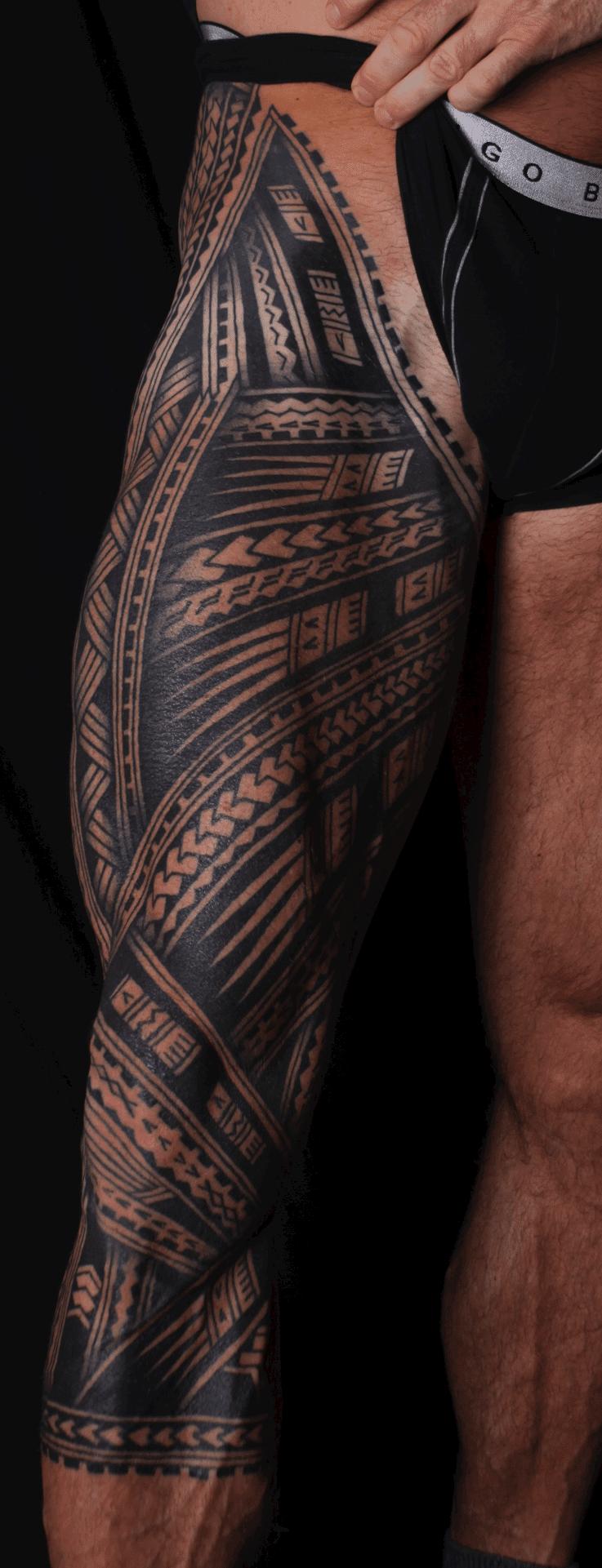 Tribal Tattoo on Leg