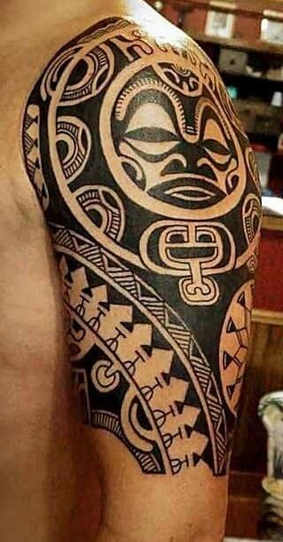 Tribal Tattoo on The Upper Arm