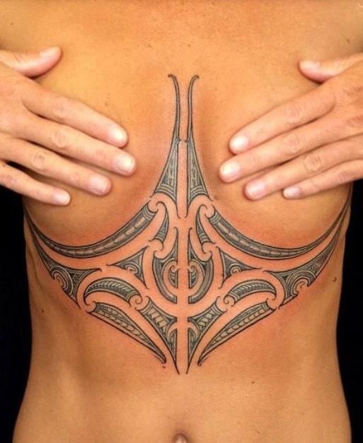 Under-boob Tribal Tattoo