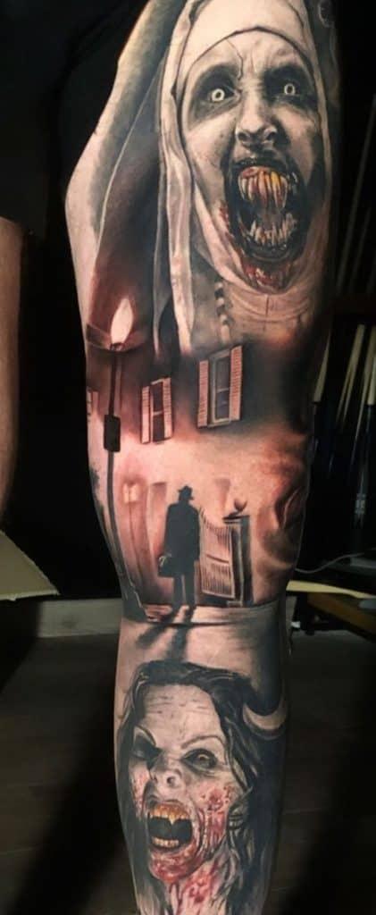 Valak Sleeve Tattoo
