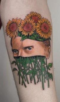 Van Gogh Sunflower Tattoo