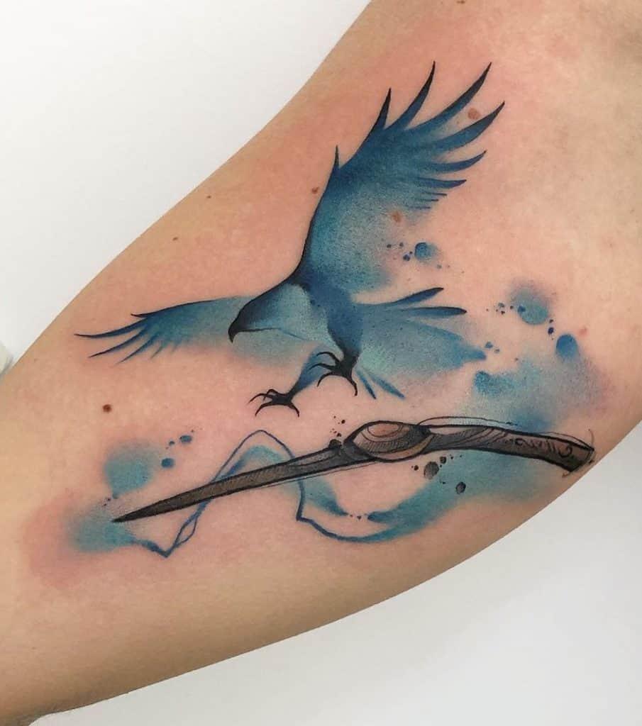 Watercolor Eagle Tattoo