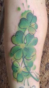 Watercolor Shamrock Tattoo