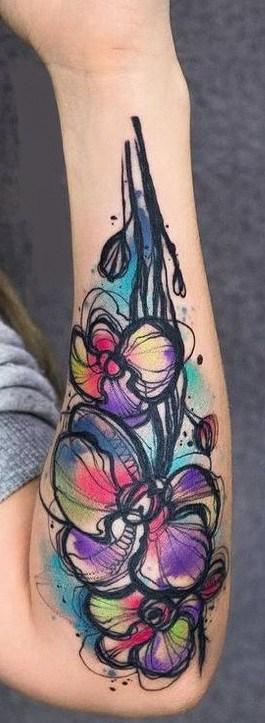 Watercolor Sketch Tattoo