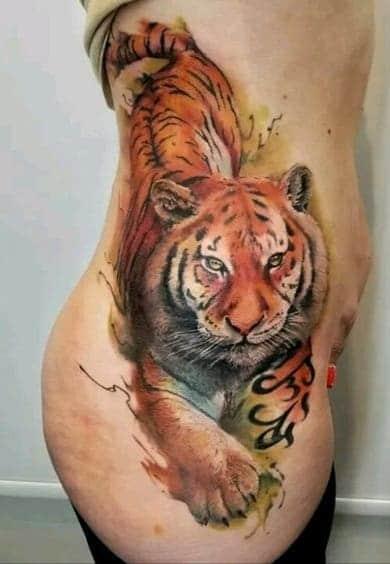 Watercolor Tiger Tattoo