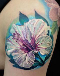 White Hibiscus Tattoo