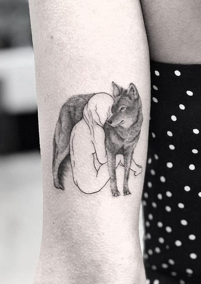 Wolf Tattoo For Women
