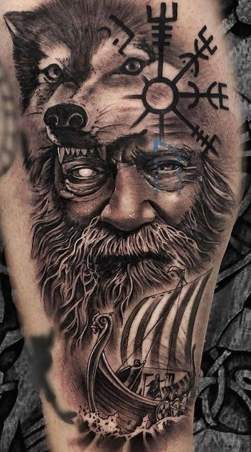 Wolf of Odin Tattoo