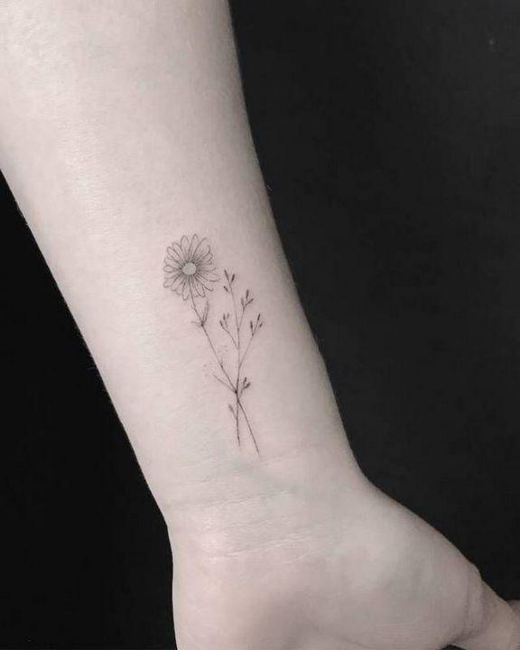 Wrist Sunflower Tattoo