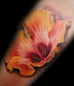 Yellow Hibiscus Tattoo