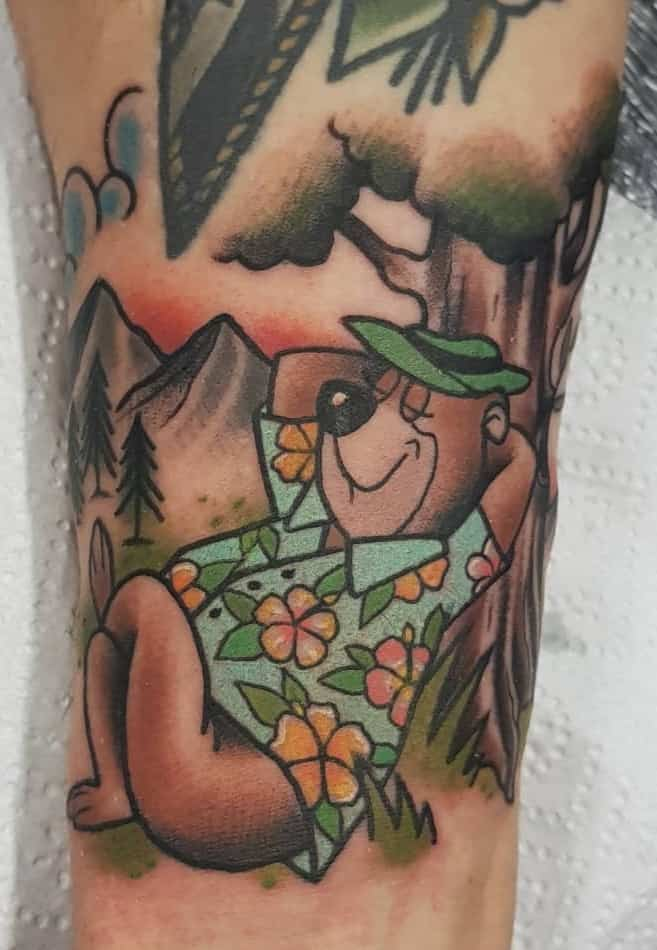 Yogi Bear Tattoo