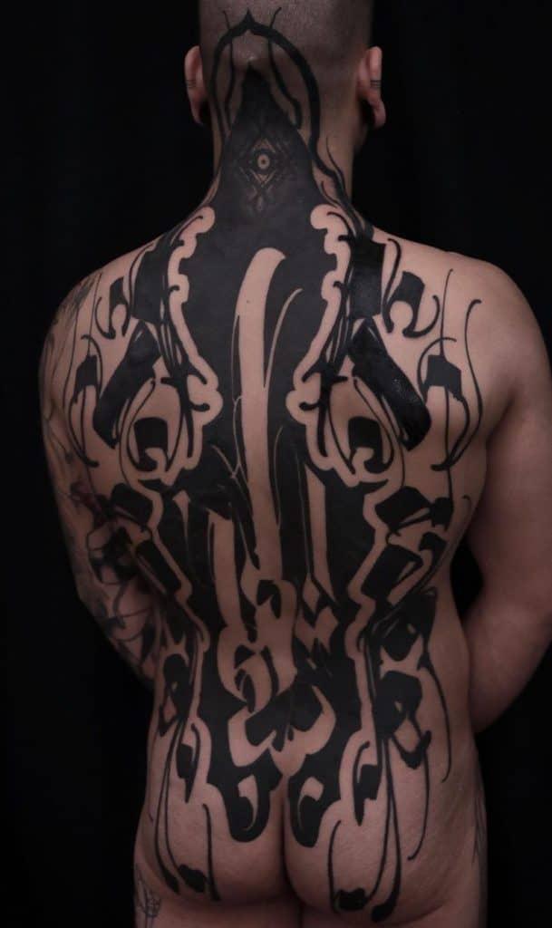 Abstract Black-work Tattoo