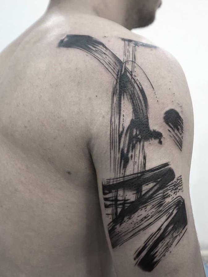 Abstract Black-work Tattoo