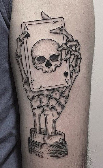 Ace of Spades Skull Tattoo