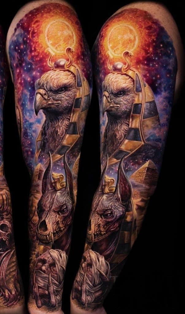 Anubis Tattoo Sleeve