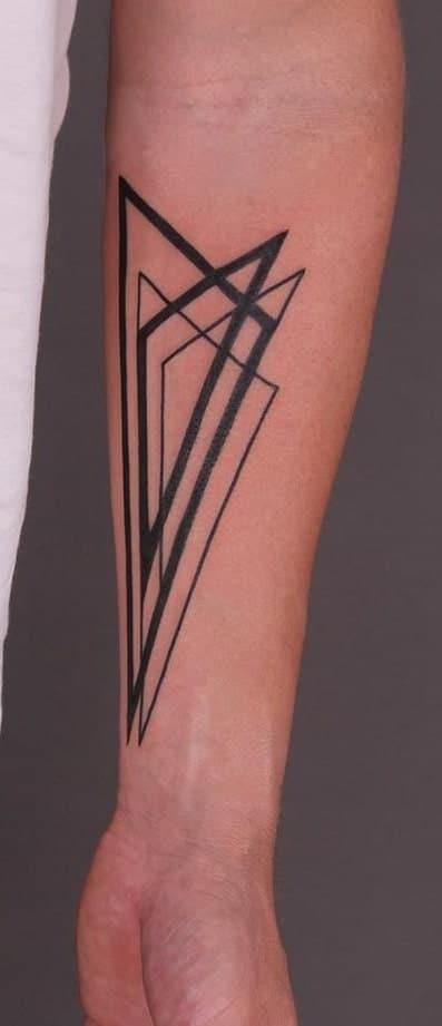 Black-work Geometric Tattoo