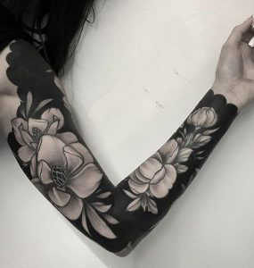 Black-work Tattoo Sleeve