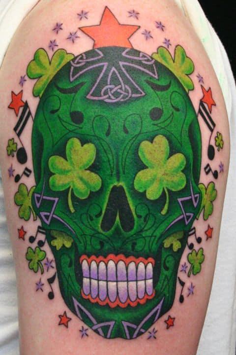 Celtic Sugar Skull Tattoos