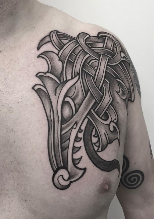 Celtic Tattoo on Chest