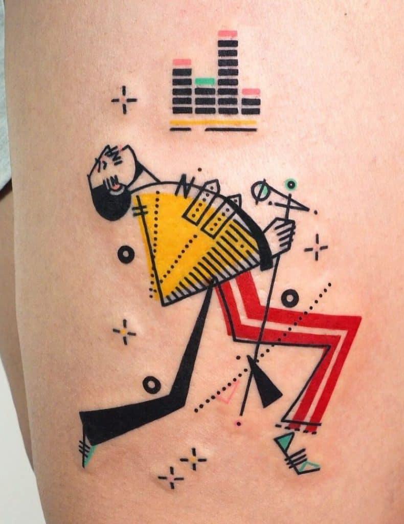 Contemporary Geometric Tattoo