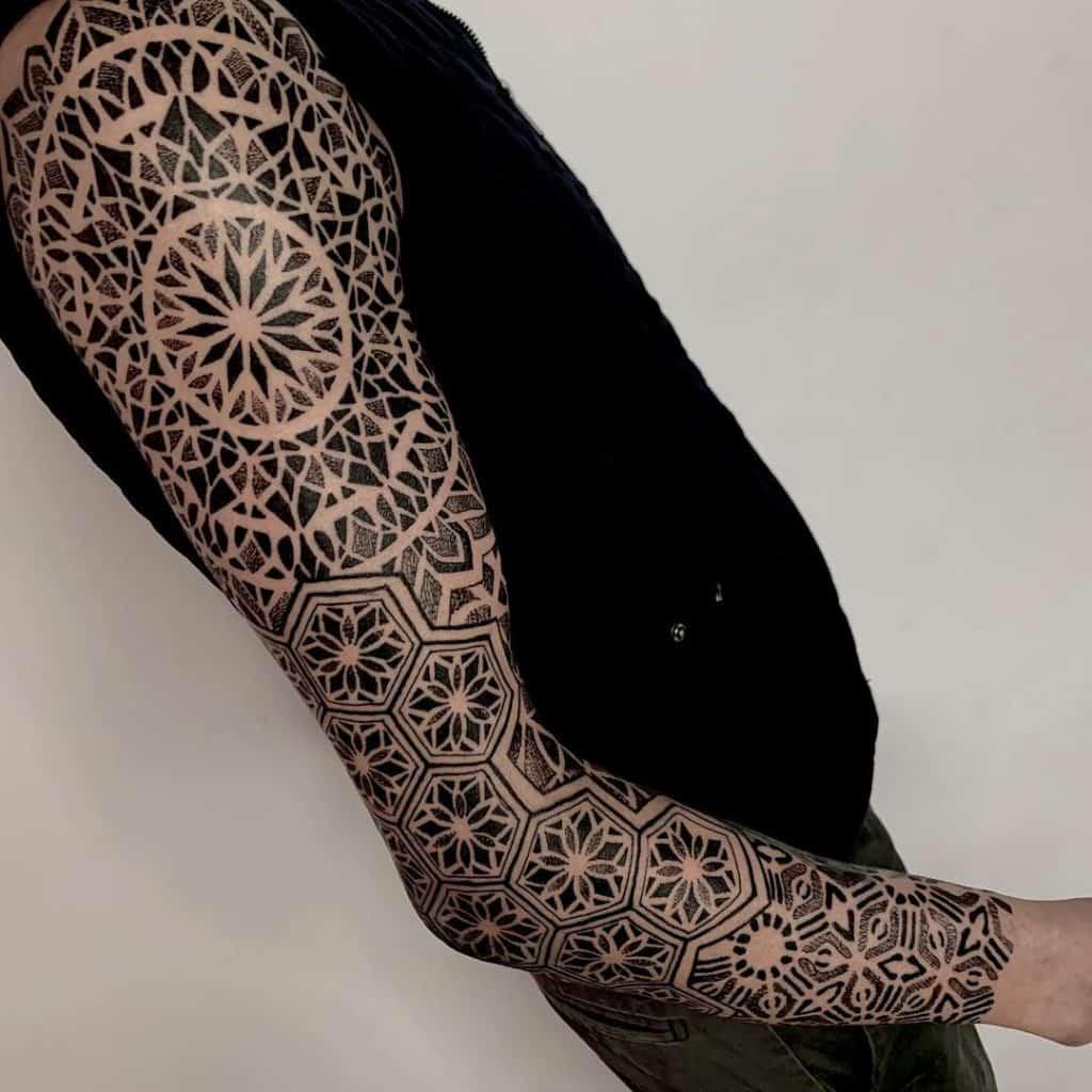 Dot-work Geometric Tattoo
