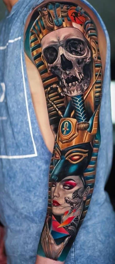 Egyptian Skull Tattoo