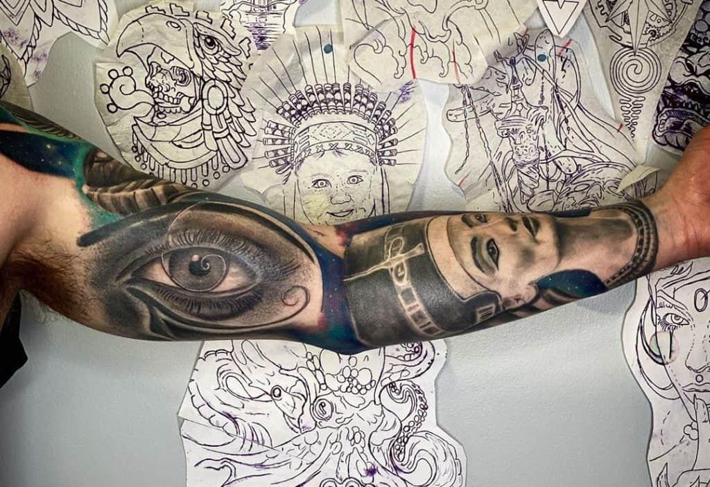 Eye of Horus Tattoo Sleeve