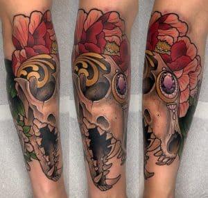 Fox Skull Tattoo