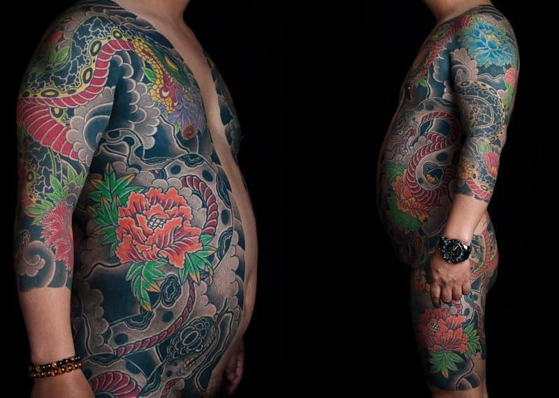 Full Body Japanese Tattoo