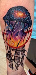 Galaxy Jellyfish Tattoo