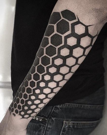 Geometric Black-work Tattoo