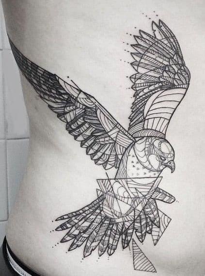 Geometric Falcon Tattoos