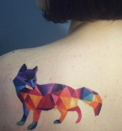 Geometric Fox Tattoo