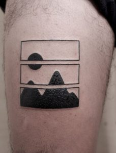 Geometric Nature Tattoo