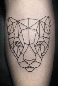 Geometric Panther Tattoos