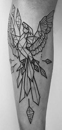 Geometric Phoenix Tattoo