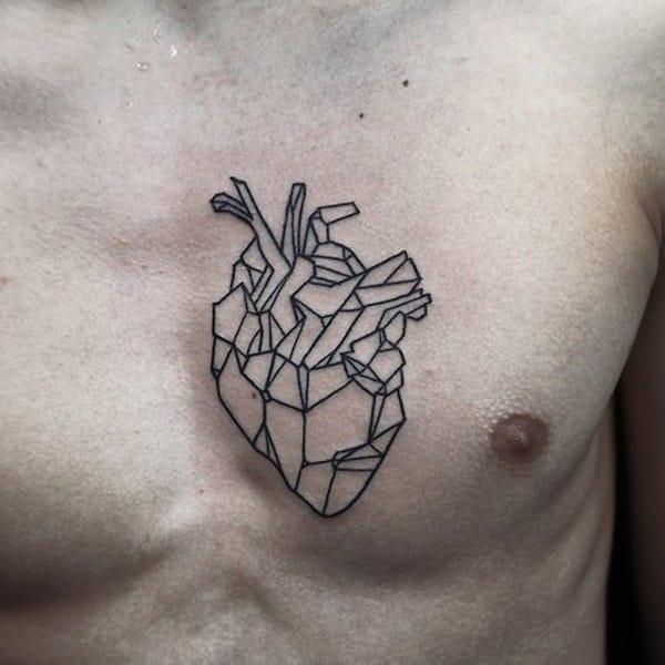 Geometric Tattoo on Chest