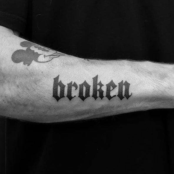 Gothic Lettering Tattoo