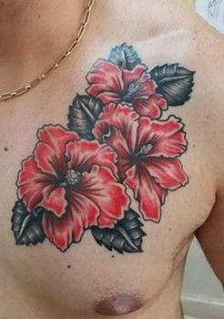 Hibiscus Tattoo For Men