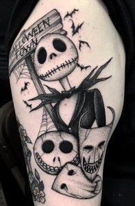 Jack Skellington Skull Tattoo