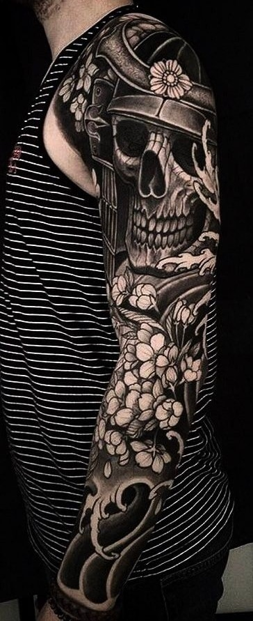 Japanese Black-work Tattoo