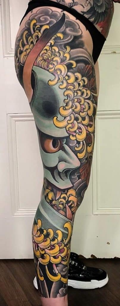 Japanese Tattoo Leg Sleeve