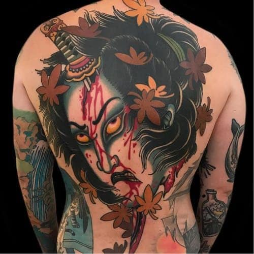 Japanese Tattoo on Back