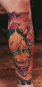 Japanese Tattoo on Calf