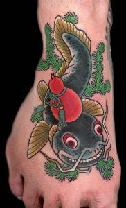 Japanese Tattoo on Foot
