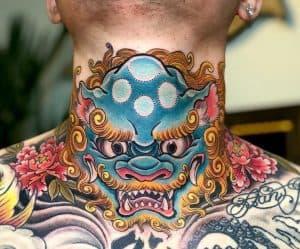 Japanese Tattoo on Neck